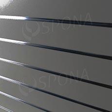 SLAT DREAM panel 120,5 x 122 cm, 11 drážok v rozostupe 10 cm, bez insertov, strieborný (silver)