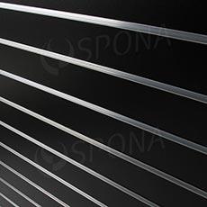 SLAT DREAM panel 120,5 x 122 cm, 7 drážok v rozostupe 15 cm, bez insertov, čierny (black)