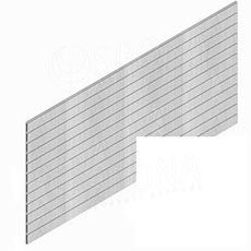 SLAT panel PROMO 244 x 122 cm / 15, terminal, bez insertov, biely (white)