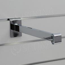 SLAT konzola pre oválnu trubku, 310 mm, chróm
