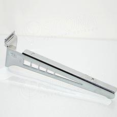 SLAT konzola koncová GEG 315 mm, pár, chróm