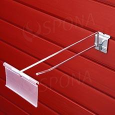 SLAT háčik s hrazdou a cenovkovou kapsou, 100 mm, pozink