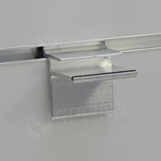 SLAT držiak sklenených políc 8 x 36 mm, ALU