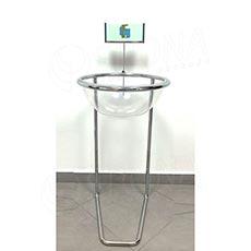 Kôš hrabací priemer 40 cm, s držiakom cenovky, transparentné plexi