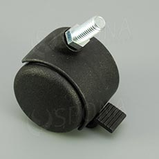 Koliesko priemer 50 mm, závit M10 x 20 mm, s brzdou, plast