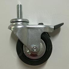 Koliesko priemer 60 mm, závit M10x 15 mm, s brzdou, kov