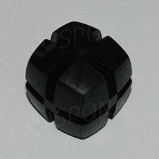 Kocka KUBIK 25 mm, pre sklo 4 mm, čierna