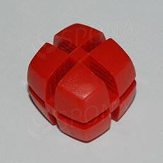Kocka KUBIK 25 mm, pre sklo 4 mm, červená