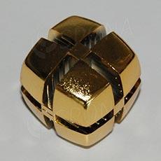 Kocka KUBIK 25 mm, pre sklo 4 mm, zlatá