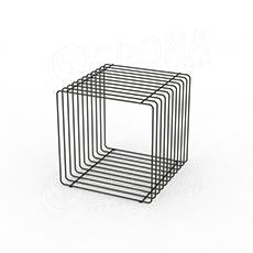 Drôtený element CUBE, 400 mm, chróm
