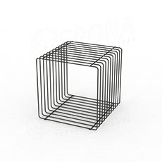 Drôtený element CUBE, 400 mm, matná biela
