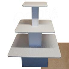 Gondola stredová - pyramída P 09/12, boky 90 cm, výška 117 cm, javor