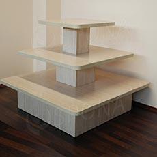 Gondola stredová - pyramída P 12/10, boky 120 cm, výška 99 cm, javor