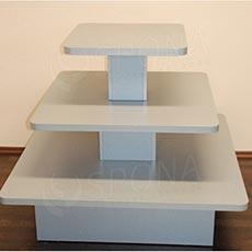 Gondola stredová - pyramída P 12/10, boky 120 cm, výška 99 cm, strieborná
