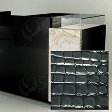 Čelný panel pre predajný pult UNO, umelá koža, šedá