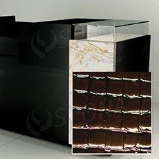 Čelný panel pre predajný pult UNO, umelá koža, hnedá