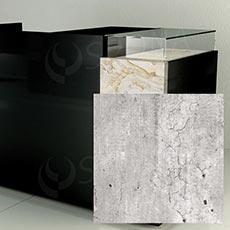 Čelný panel pre predajný pult UNO, umelá koža, betón