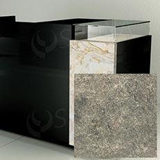 Čelný panel pre predajný pult UNO, umelá koža, prírodný kameň