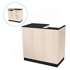 Pult pokladničný BASIC 99, 1200 x 600 x 990 mm, svetlé drevo a čierne LTD