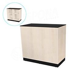 Pult predajný BASIC 99, 1200 x 600 x 990 mm, svetlé drevo a čierne LTD