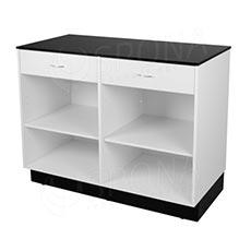 Pult predajný BASIC 99, 2 zásuvky, 1200 x 600 x 990 mm, biele a čierne LTD