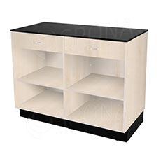 Pult predajný BASIC 99, 2 zásuvky 1200 x 600 x 990 mm, svetlé drevo a čierne LTD