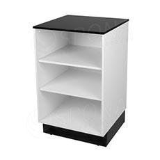 Pult BASIC 99 malý, 600 x 600 x 990 mm, biele a čierne LTD