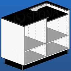 Pult pokladničný BOX, 1200 x 600 x 940 mm, biele a čierne LTD