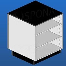 Pult BOX malý, 600 x 600 x 940 mm, biele a čierne LTD