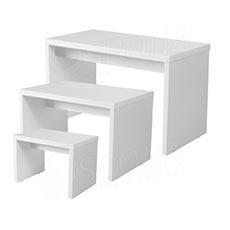 Stolík výstavný LTD 900 x 400 x 640 mm, biely