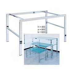 Stolík LASER 400 x 800 x 600 mm, chróm, matné sklo 8 mm
