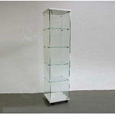 Vitrína Easy 40, sklo + LTD biela, 40 x 40 x 171 cm