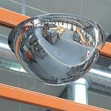 Zrkadlo kontrolné 800 / 360 mm, polguľa